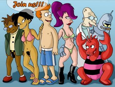 Sinful babes from Futurama cartoon - Cartoons Sex Porn Comics