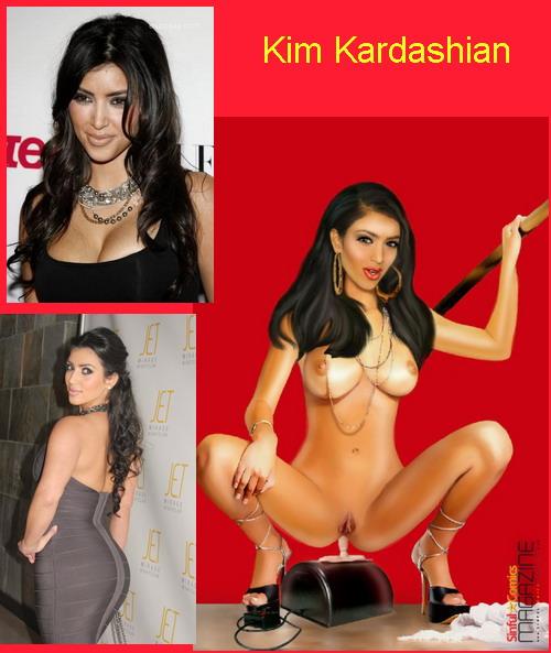Kim Kardashian & Scarlett Johansson - Busty Celebs Kim Kardashian Scarlett Johansson