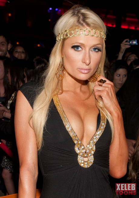 Paris Hilton has got boobs! Comics version - Celebs Blondes Paris Hilton