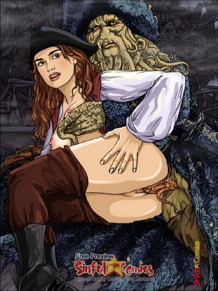 Sinful Comics : Keira Knightley Nude - Celeb Brunette Keira Knightley