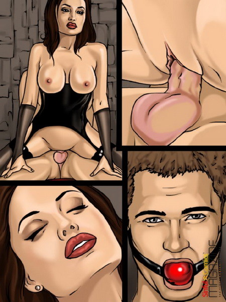 Angelina Jolie nude scenes from sex comics - Angelina Jolie Celeb Brunette