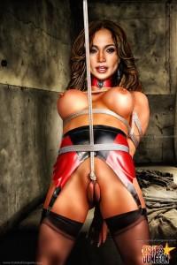 BDSM comics - Celebs in bondage