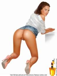 Cinema slut - Famous Comics Megan Fox sex