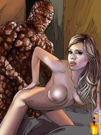 Sex for the Fantastic 4 - Famous Comics Superheroes Sex