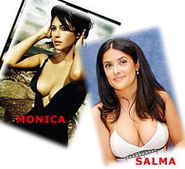 Two busty women - Adult Comics Busty Celebs Monica Bellucci Porn Comics Salma Hayek