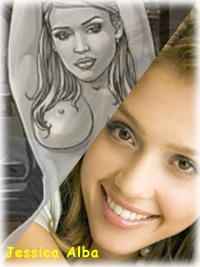 Awesome comics Jessica Alba - Cartoons Sex Celeb Blonde Hollywood Celebrity Jessica Alba